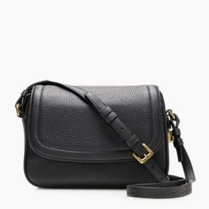 J.Crew Signet Flap Bag Italian Leather